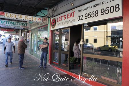 lets eat, marrickville, review, outside