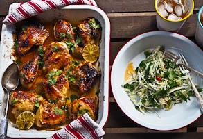 Easy Sunday Lime & Chilli Butter Roast Chicken