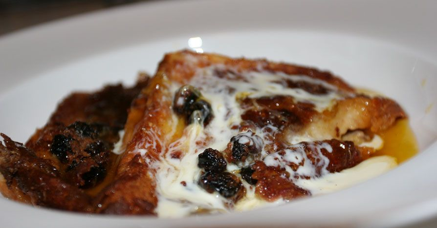 Bread & Butter pudding - with bourbon sauce and single cream