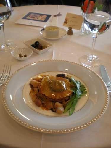 Iron Chef Sakai -Chicken with foie gras and ravioli