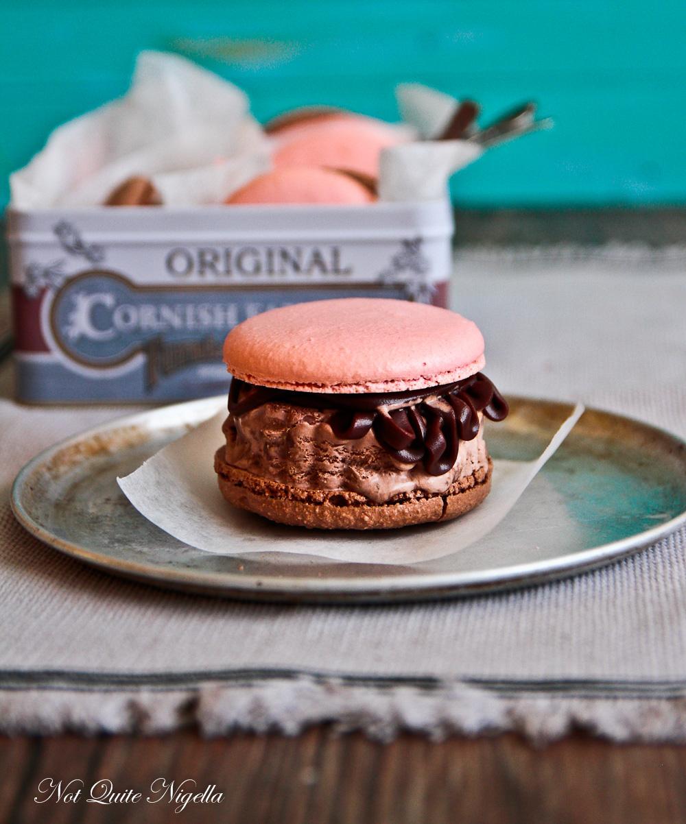 Neapolitan Macaron Ice Cream Sandwich