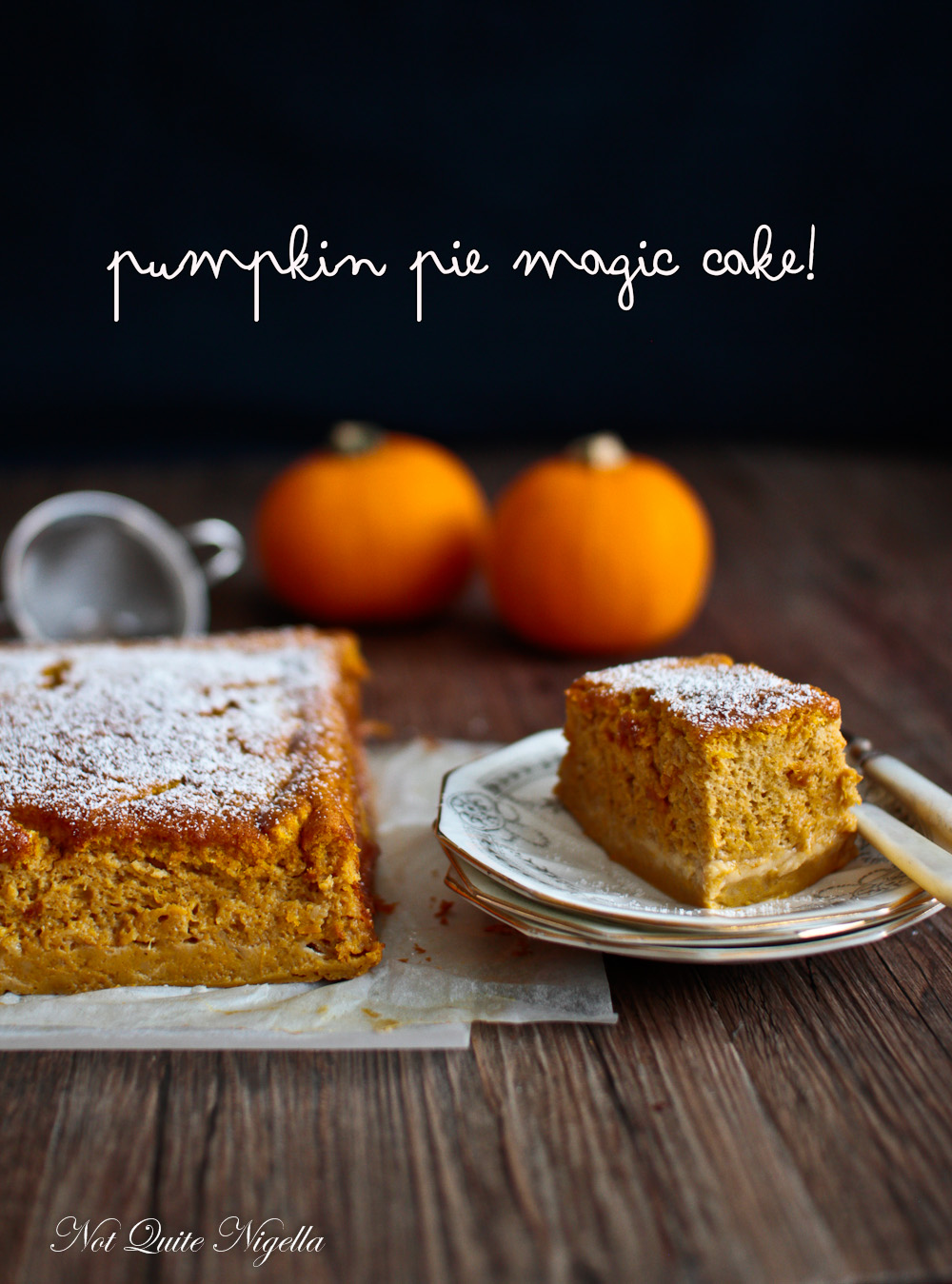 Magic Cake Pumpkin Pie