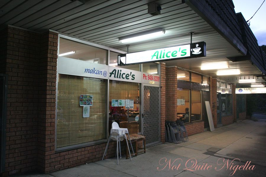 Makan at Alice's Malaysian and Singaporean food, Thornleigh