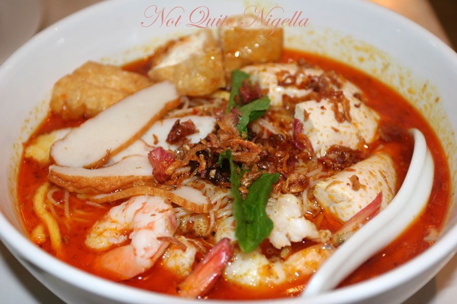 Makan at Alice's Malaysian and Singaporean food, Thornleigh Prawn chicken laksa