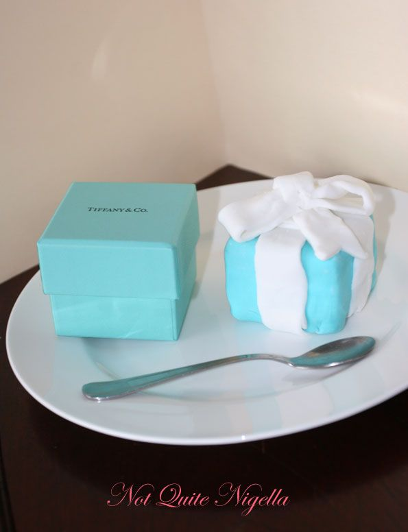 Tiffany fondant box