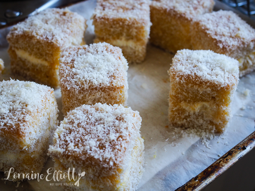 Mango Coconut Lamingtons