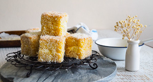 Go Go Go For Mango & Coconut Lamingtons