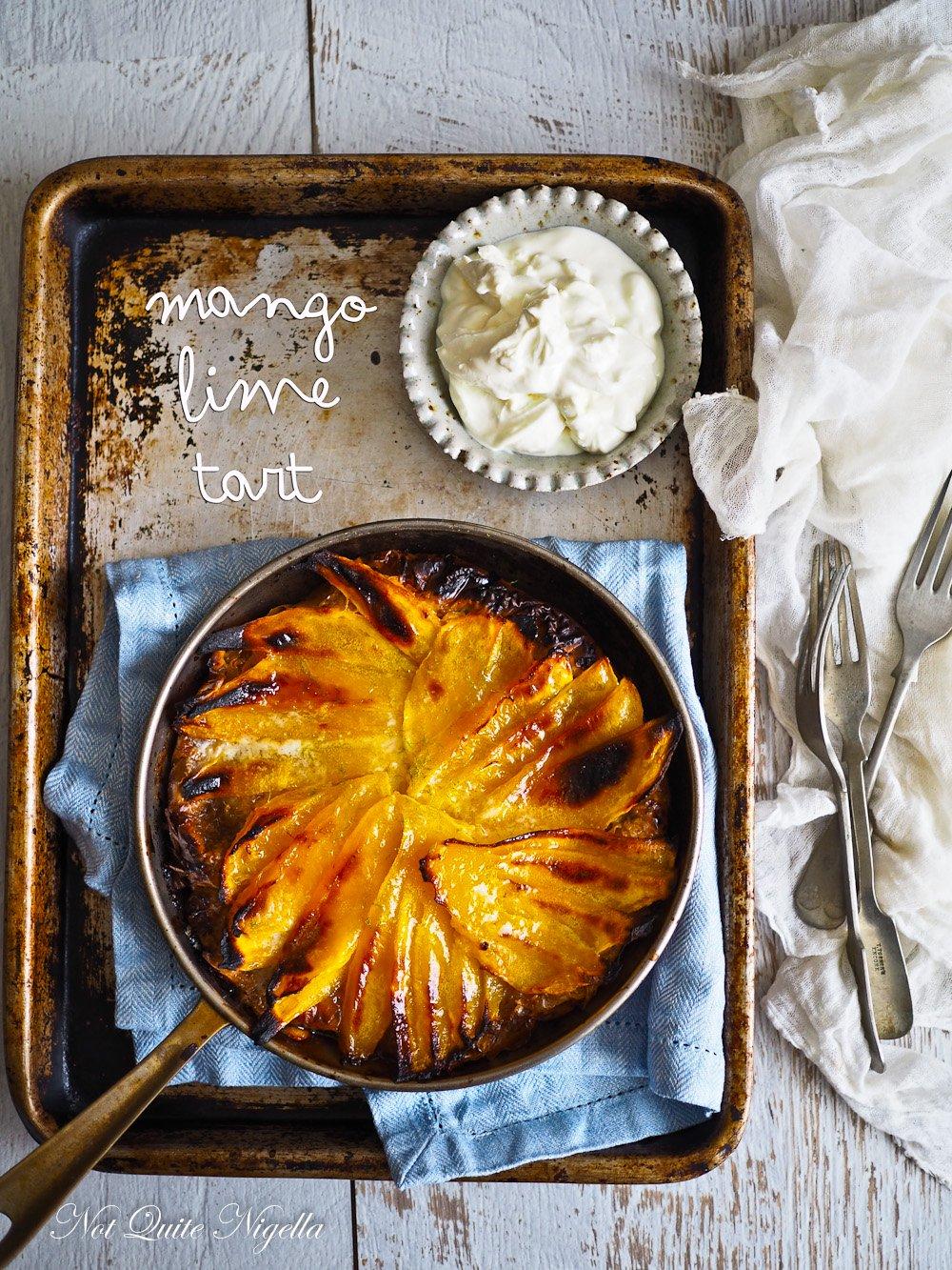 Caramelised  Mango Lime Tart