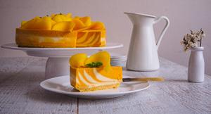 Mangonificent Mangoes & Cream Zebra Striped Cheesecake!
