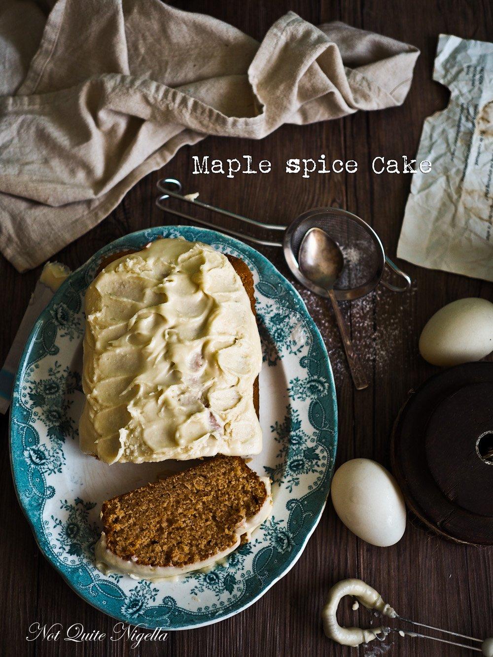 Maple Spice Pound Cake @ Not Quite Nigella