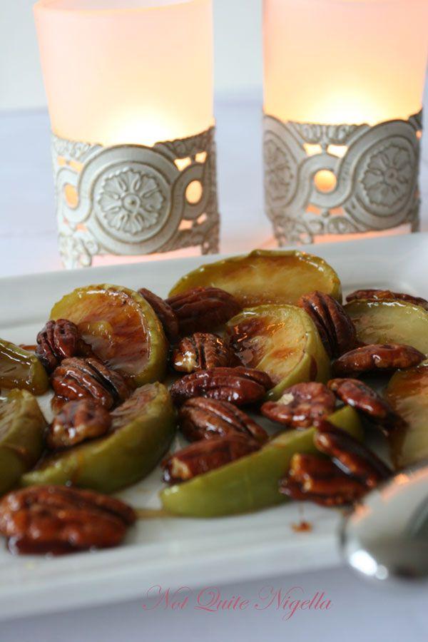 Marsala Honey Pears with Gorgonzola from Nigella Express