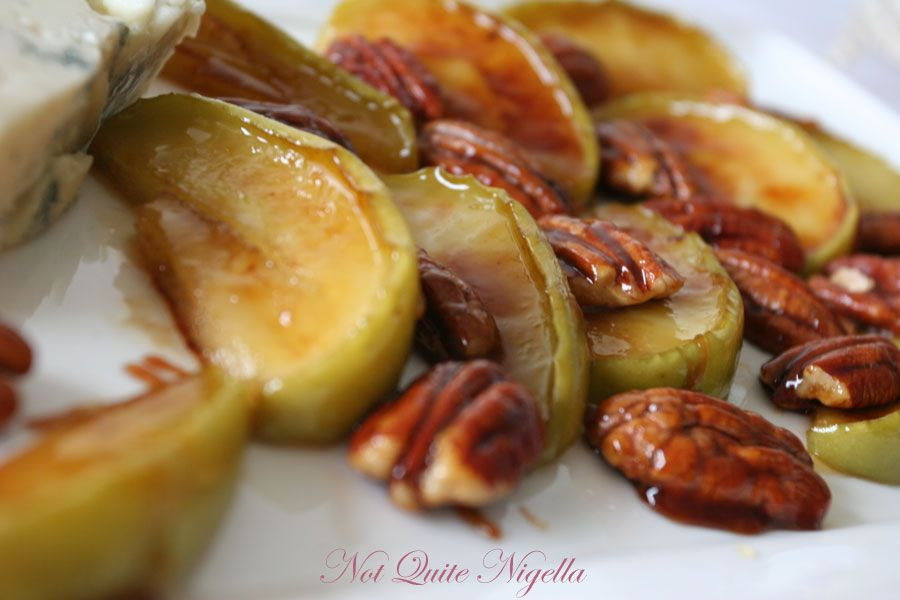 Marsala Honey Pears with Gorgonzola from Nigella Express