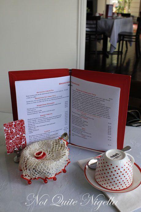 brookview tea house, matakana, menu