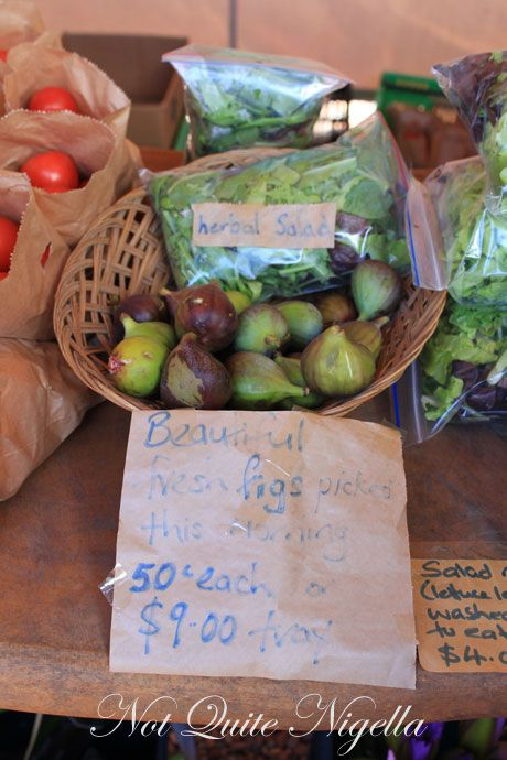matakana farmers market, new zealand, figs