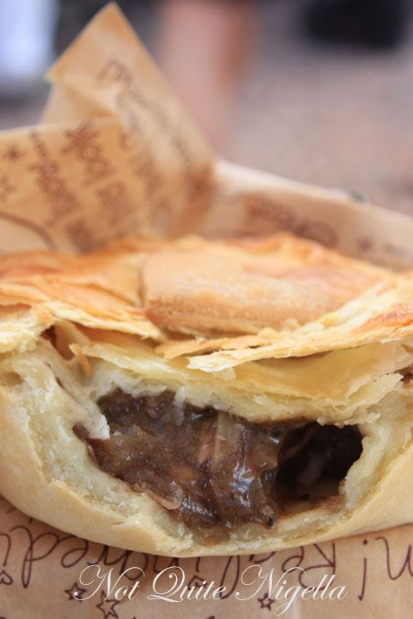 matakana farmers market, new zealand, pie