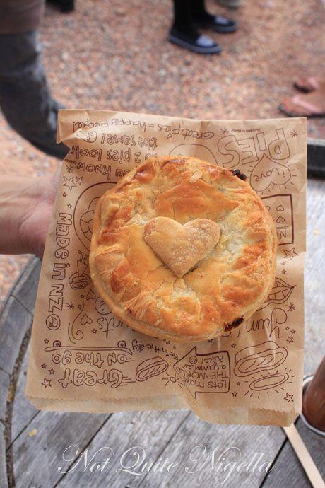 matakana farmers market, new zealand, pies