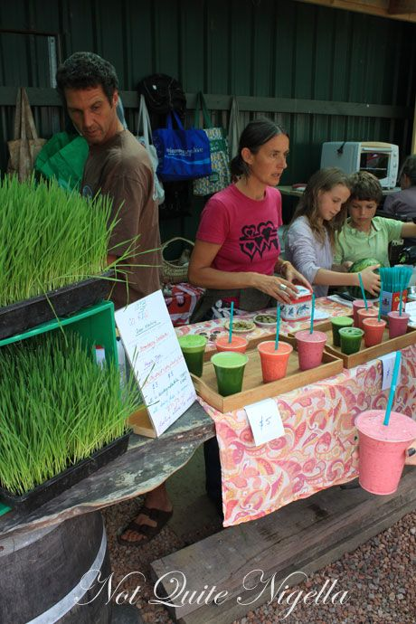 matakana farmers market, new zealandm smoothie