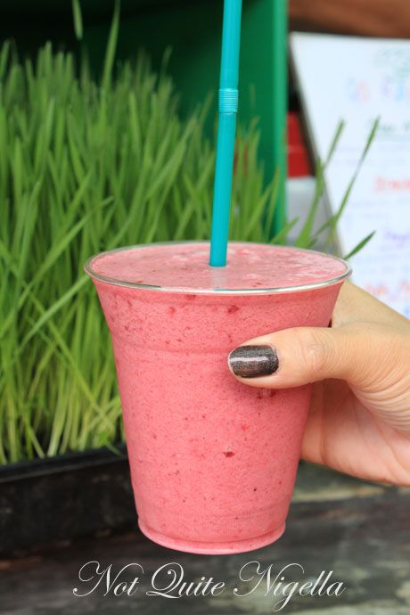 matakana farmers market, smoothie
