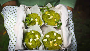 Go Green With These Matcha White Chocolate & Lime Muffins!