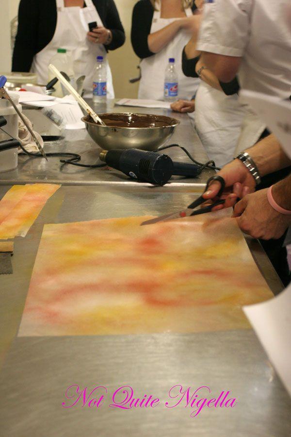Adriano Zumbo Cooking classes Cutting acrylic