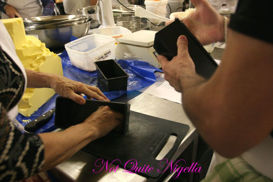 Adriano Zumbo Cooking classes Buttering tins
