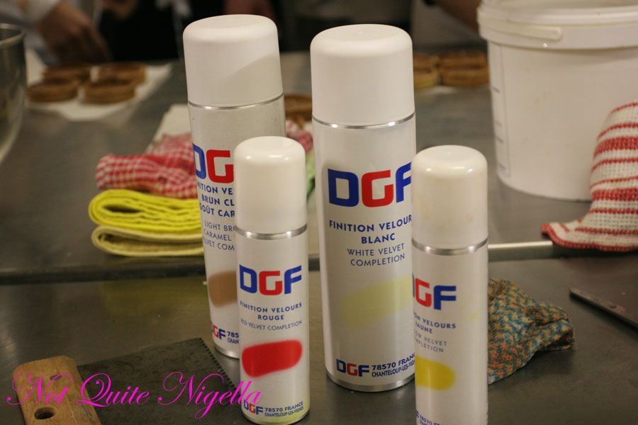Adriano Zumbo Cooking classes colour sprays