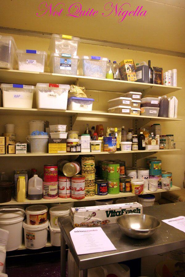 Adriano Zumbo Cooking classes pantry