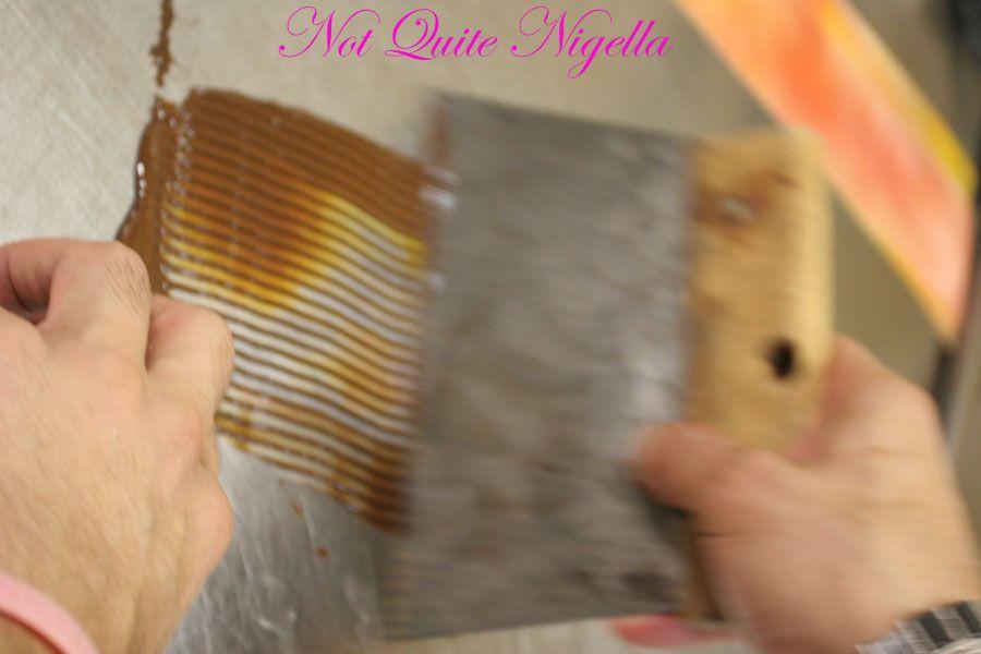 Adriano Zumbo Cooking classes scraping chocolate