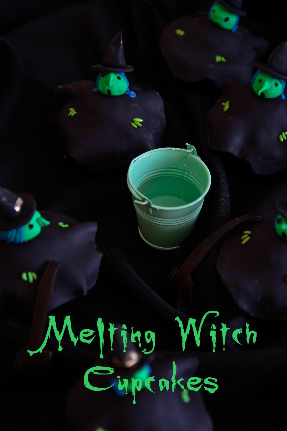 melting witch cupcakes