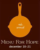 Menu for Hope 2007
