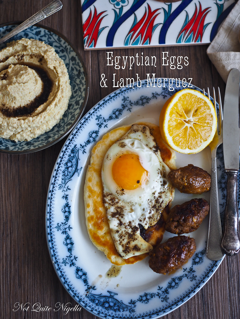 Merguez Sausages Egyptian Eggs Breakfast