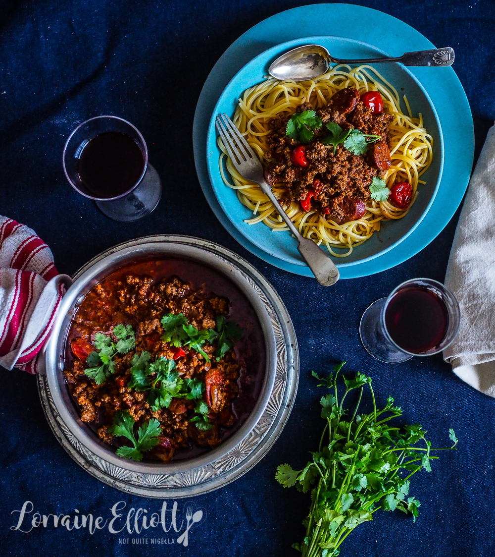 Mexican Beef Mince Spaghetti