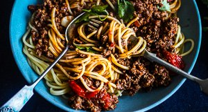 Mexcellent Mexican Beef Spaghetti