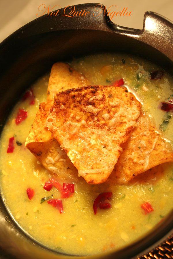 Mexican night, Nigella style! Sweetcorn chowder