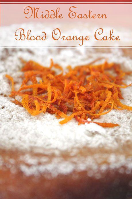Middle Eastern Blood Orange Cake