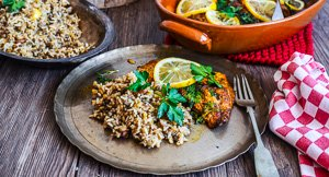 Sofishticated! Spiced Snapper With Browned Butter & Lentil Rice