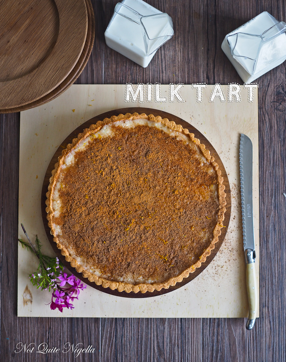 Milk Tart Melktert recipe South African