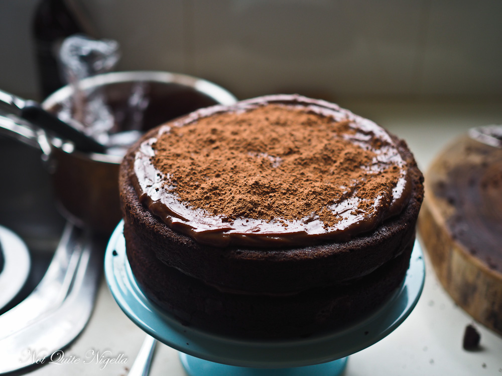 Refrigerator Chocolate Fudge Frosting Cake: Milo Chocolate Cake With Chocolate Fudge Frosting @ Not