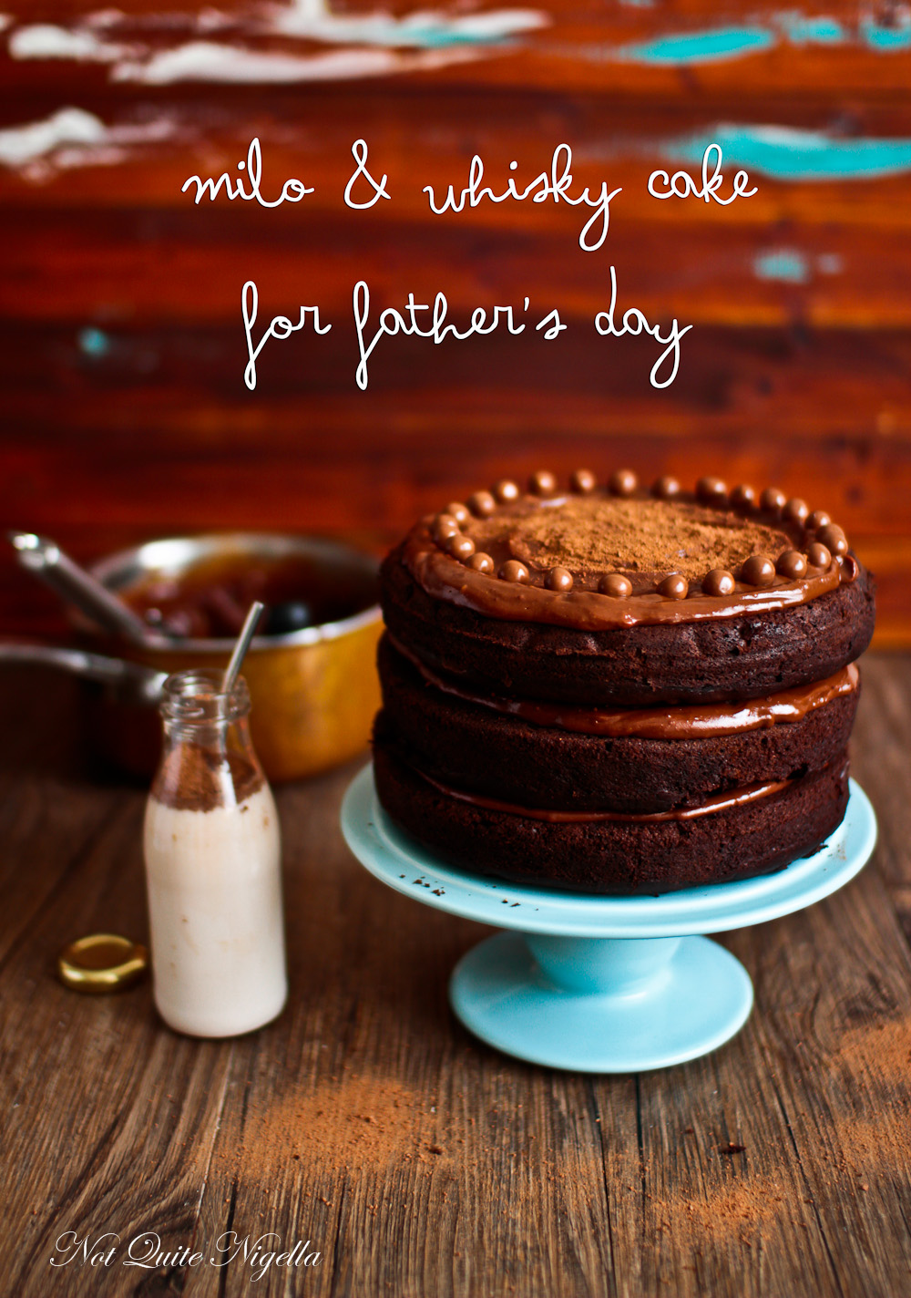 Milo Chocolate Cake With Chocolate Fudge Frosting @ Not Quite Nigella