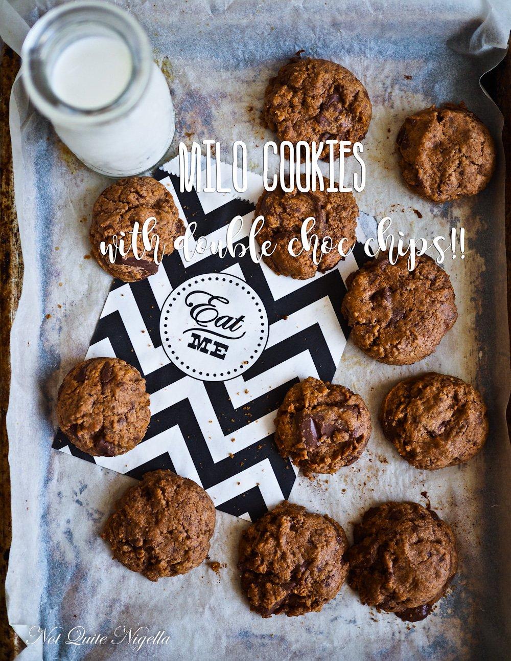 Milo Chocolate Chip Cookies