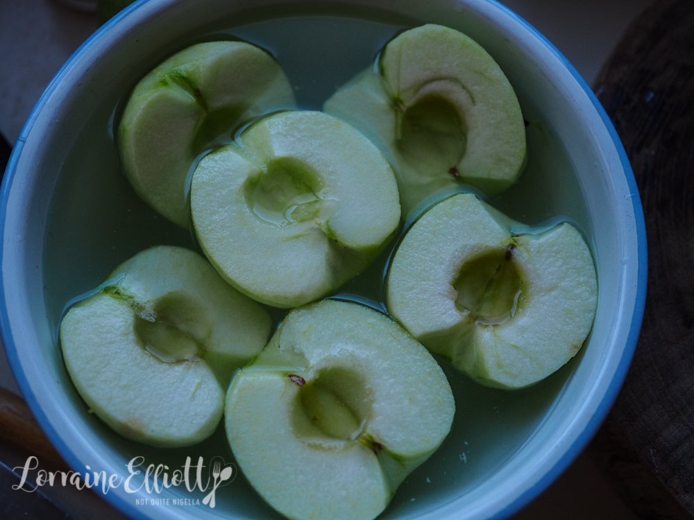 Miso Caramel Apple Frangipane Tart