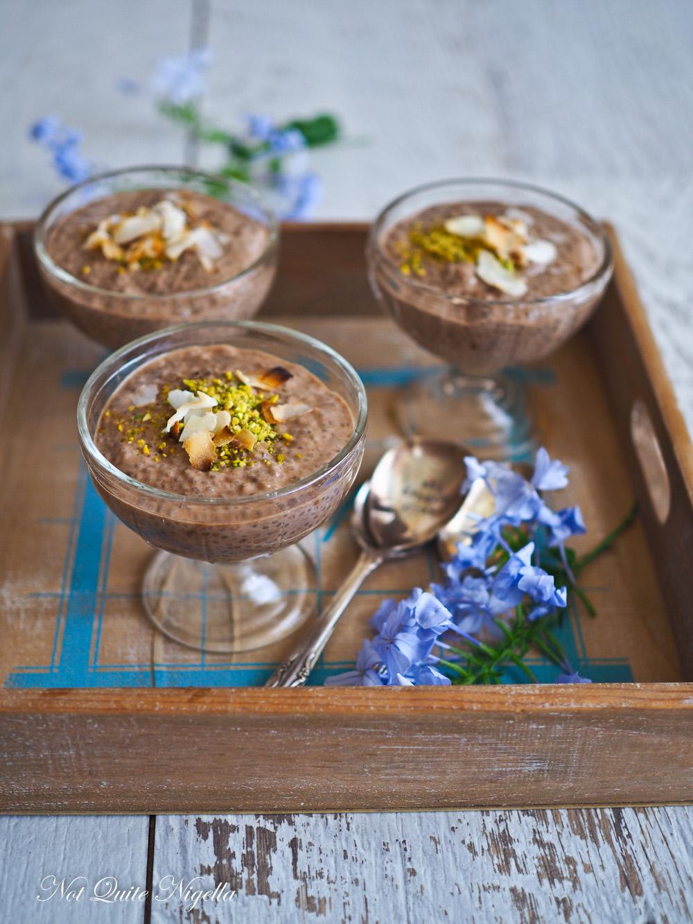 Mocha Chia Nut Pudding