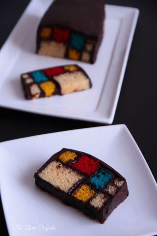 mondrian battenberg cake