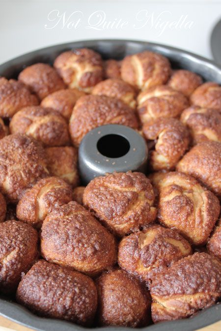 monkey bread, chocolate stuffed, from scratch, baked