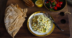 Relation-dip Goals! Moroccan Egg Salad Dip
