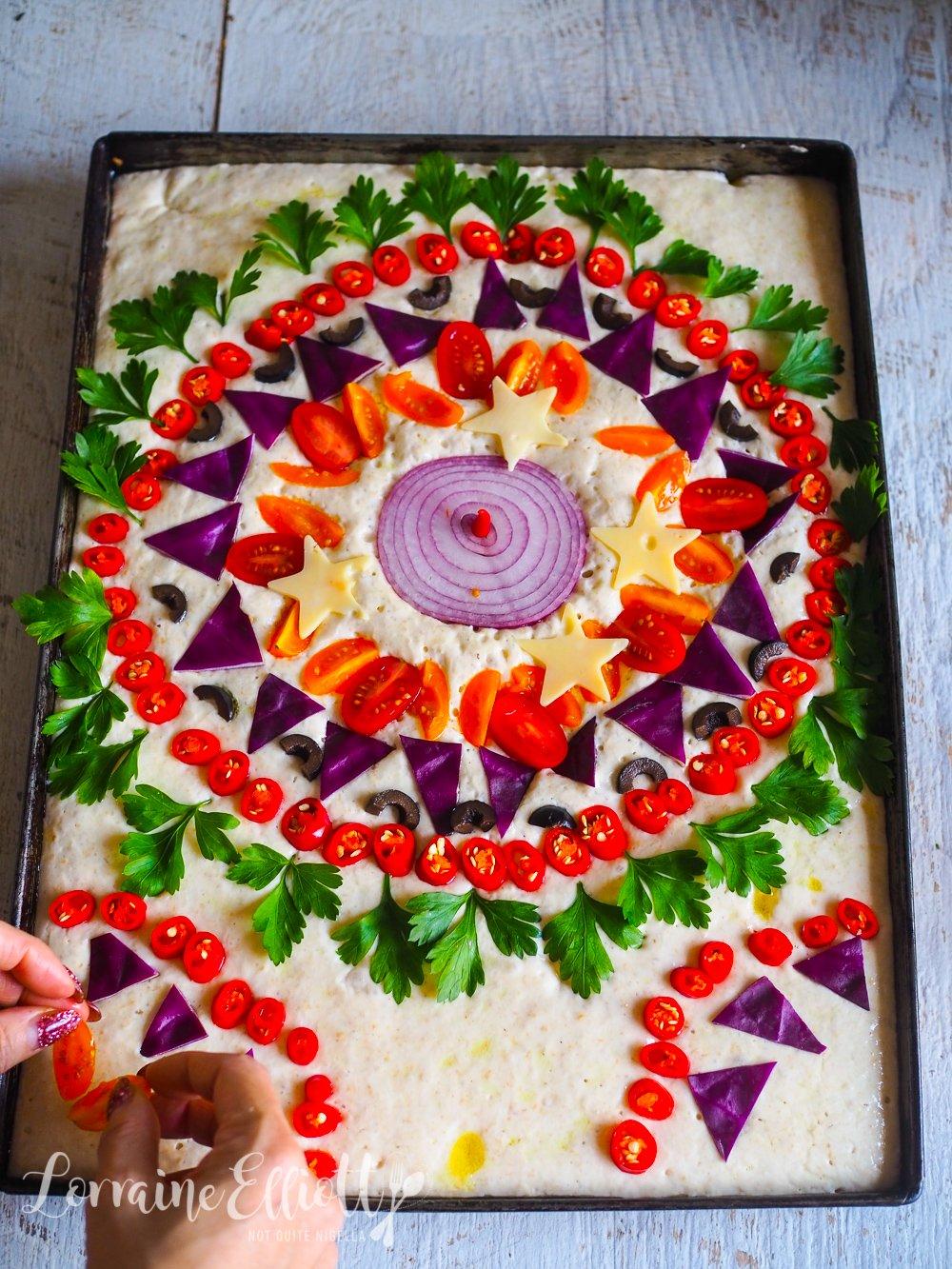 Mosaic Focaccia Bread Art