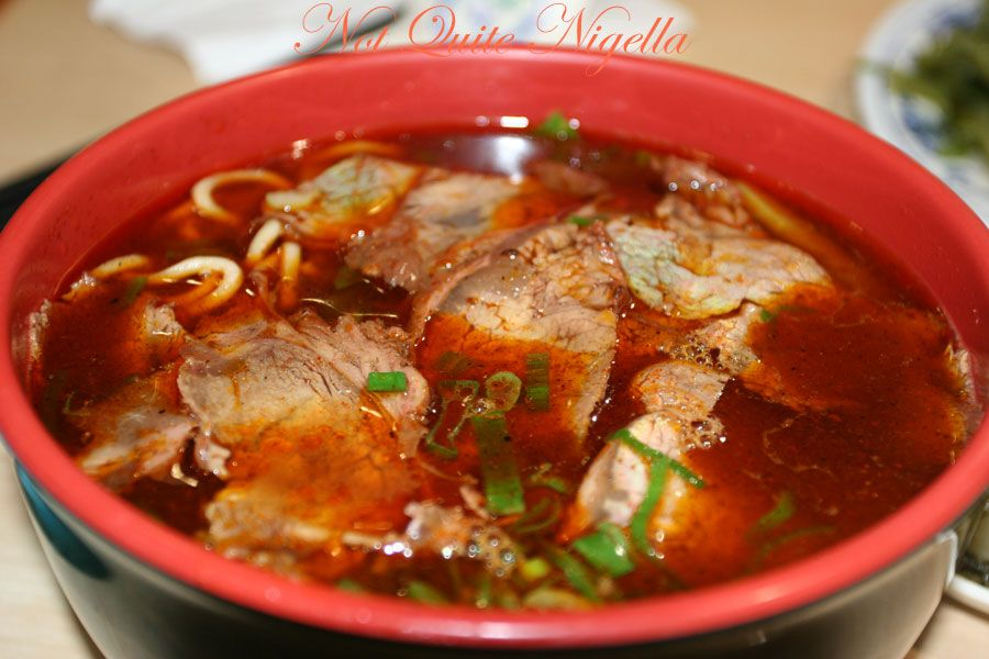 Mother Chu's Taiwanese Gourmet at Haymarket, Chinatown Szechuan beef noodle soup