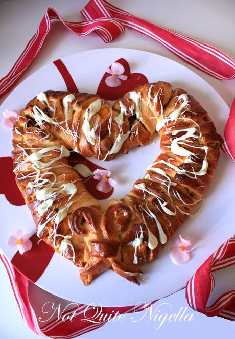 mothers day breakfast recipe, heart braid recipe