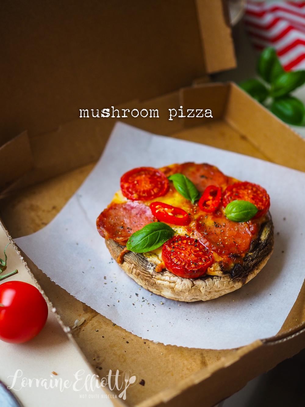Mushroom Pizza Low Carb Keto Gluten Free