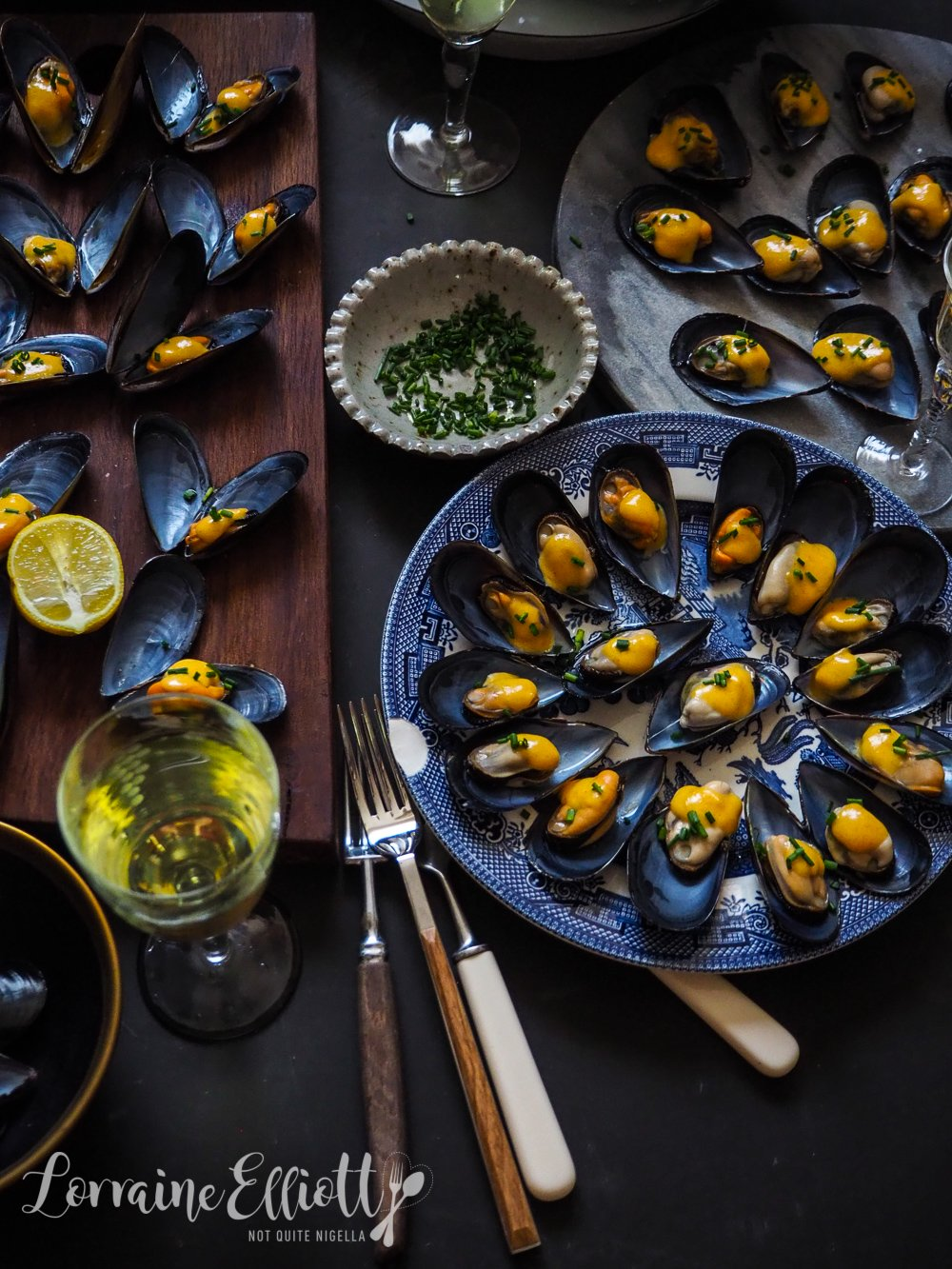 Mussels With Saffron Aioli